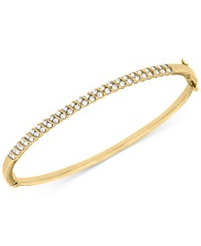 Diamond Bangle Bracelet  (1 ct. t.w.) in 10k White or Yellow Gold