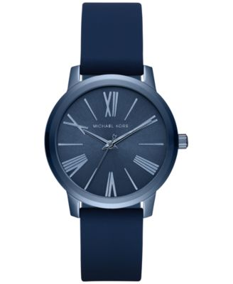 Michael Kors Women\u0026#39;s Hartman Blue Silicone Strap Watch 38mm MK2639, A Macy\u0026#39;s Exclusive Style