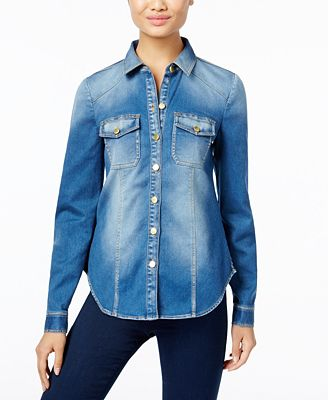 INC International Concepts Denim Shirt, Only at Macy's