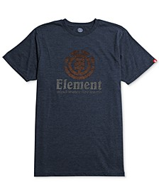Men's Vertical Push Graphic-Print Logo T-Shirt