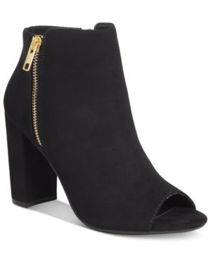 Material Girl Carena Peep-Toe Booties, Created for Macy