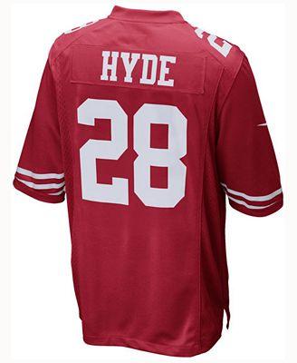 new styles 0244a 7a32e Nike Carlos Hyde San Francisco 49ers Game Jersey, Big Boys ...