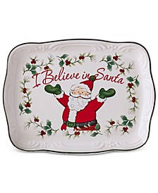 "Winterberry ""I Believe in Santa"" Cookie Plate, Created for Macy's"
