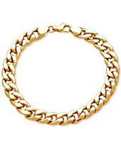 Men's Heavy Curb Link Bracelet in 10k Gold