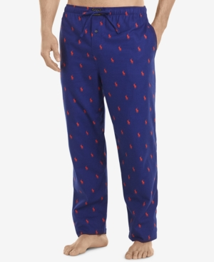 Polo Ralph Lauren Men's Flannel Pony-Print Pajama Pants