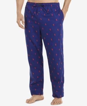 flannel pony print pajama pants