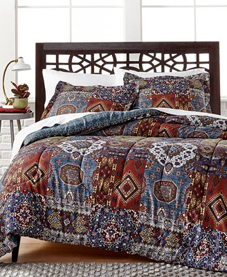 closeout! eva comforter set, created for macy's - bed in a bag