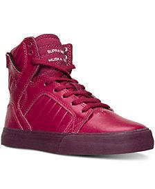 Supra Big Girls' Skytop Metallic High-Top Casual Sneakers from Finish Line