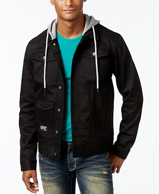 LRG Men's Hooded Denim Jacket - Coats & Jackets - Men - Macy's