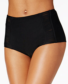 Hula Honey Juniors Malibu Solids High-Waist Swim Bottoms, Created for Macy's
