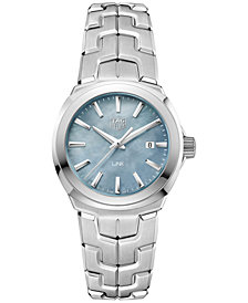 TAG Heuer Women's Swiss LINK Stainless Steel Bracelet Watch 32mm WBC1311.BA0600