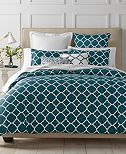 CLOSEOUT! Charter Club Damask Designs Geometric Peacock Bedding Collection, Created for Macy's