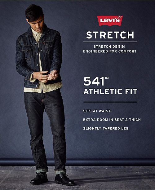 204bc4d0c7f Levi's 541™ Athletic Fit Jeans- Line 8 & Reviews - Jeans - Men - Macy's