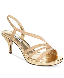 Nina Neely Asymmetircal Evening Sandals