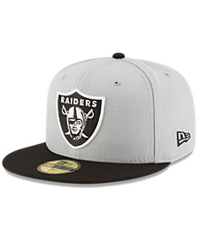 Oakland Raiders Team Basic 59FIFTY Fitted Cap