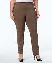 079a6d68edd99a JM Collection Plus & Petite Plus Size Tummy Control Slim-Leg Pants, Created  for