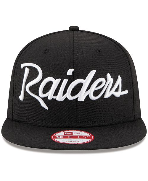 New Era Oakland Raiders Lids 20th Anniversary Script 9fifty Snapback
