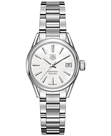 Women's Swiss Automatic Carrera Lady Stainless Steel Bracelet Watch 28mm