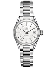 TAG Heuer Women's Swiss Automatic Carrera Lady Stainless Steel Bracelet Watch 28mm WAR2411.BA0776