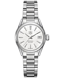 TAG Heuer Women's Swiss Automatic Carrera Lady Stainless Steel Bracelet Watch 28mm