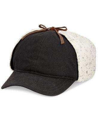 Woolrich Men's Wax Cotton Sherpa Cap