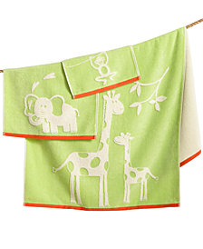 Kassatex Kids' Kassa Jungle Fingertip Towel