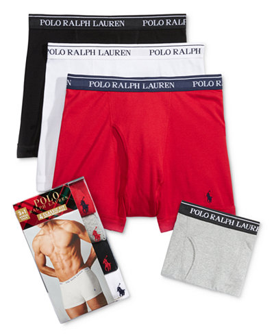 Polo Ralph Lauren Holiday Men's 3+1 Bonus Pack Boxer Briefs