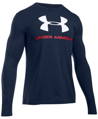 Under Armour Men's Long-Sleeve Logo T-Shirt - T-Shirts - Men - Macy's