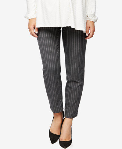 A Pea In The Pod Maternity Striped Straight-Leg Pants