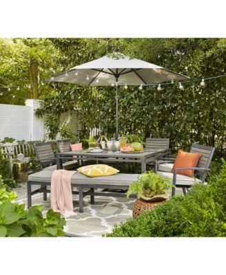 furniture closeout aluminum 84 x 42 outdoor dining table created rh macys com closeout teak patio furniture Patio Furniture Auctions