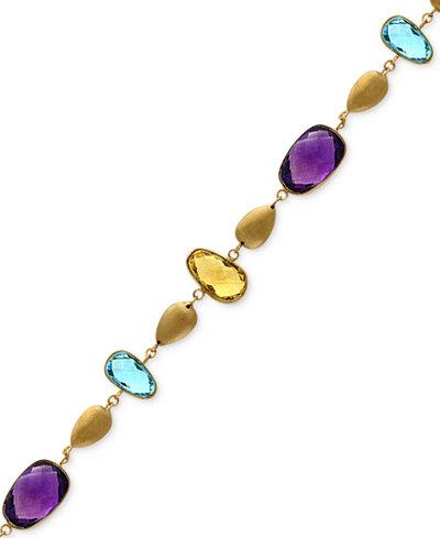 Effy 174 Multi Gemstone 19 1 8 Ct T W Statement Bracelet
