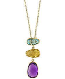 EFFY® Multi-Gemstone (6-1/4 ct. t.w.) Pendant Necklace in 14k Gold