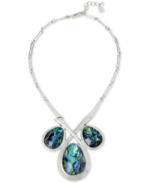 Robert Lee Morris Soho Silver-Tone Imitation Abalone Necklace
