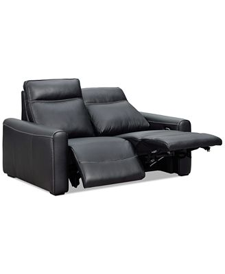 Furniture Marzia 60 Leather Loveseat With 2 Power Recliners