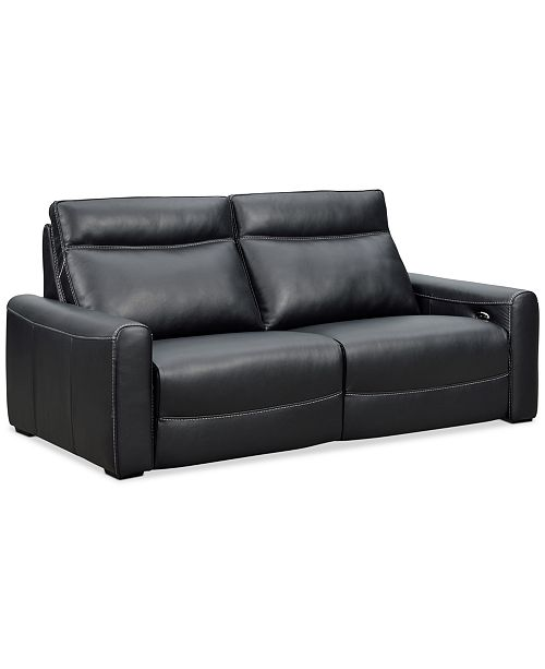 Terrific Marzia 78 Leather Sofa With 2 Power Recliners Created For Macys Andrewgaddart Wooden Chair Designs For Living Room Andrewgaddartcom