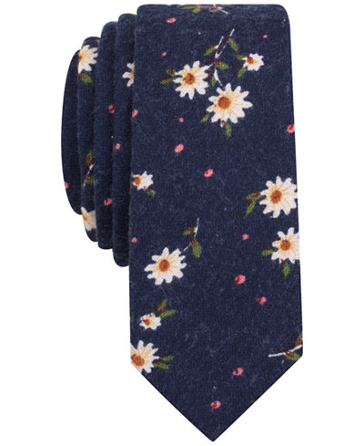Original Penguin Men's Gene Floral Skinny Tie