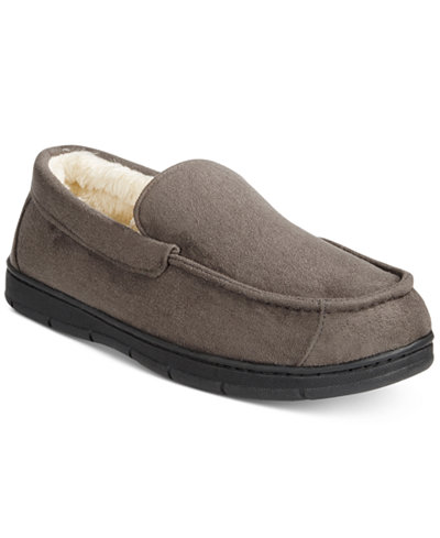 Club Room Men's Faux Suede Memory Foam Slippers, Created for Macy's