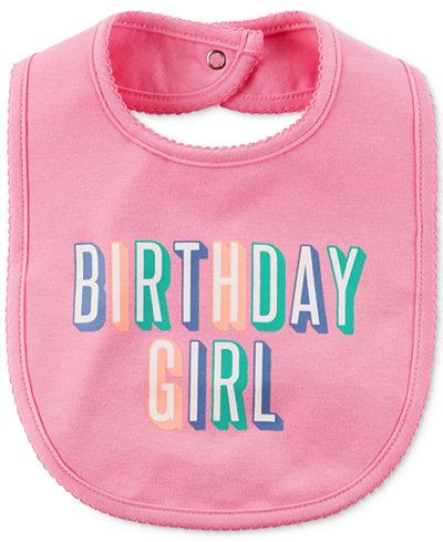 Carter's Birthday Girl Cotton Bib, Baby Girls