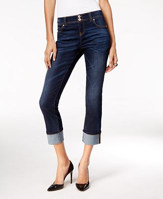 INC International Concepts Curvy-Fit Cropped Jeans, Only at Macy's ...