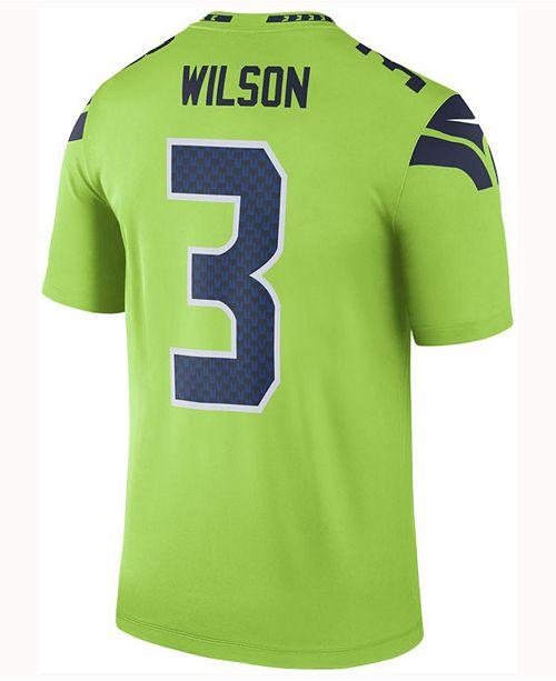 Nike Men's Russell Wilson Seattle Seahawks Legend Color Rush Jersey