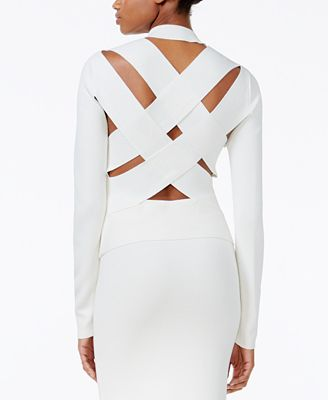 RACHEL Rachel Roy Lattice-Back Sweater, Created for Macy's