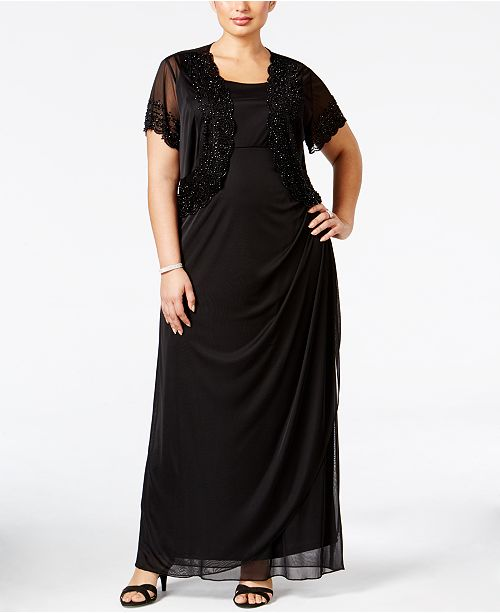 981a08adc66 MSK Plus Size Gown and Beaded Jacket   Reviews - Dresses ...