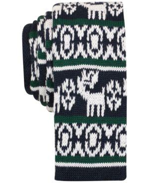 Bar Iii Men's Fair Isle Knit Slim Tie, Created for Macy's thumbnail