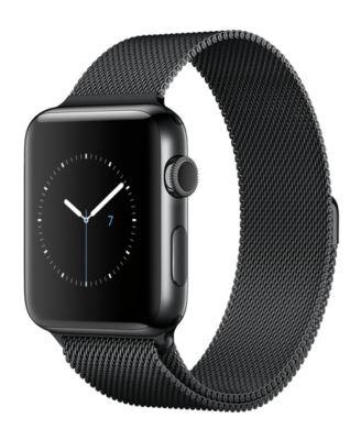 Image of Apple Watch Series 2 42mm Space Black Stainless Steel Case with Space Black Milanese Loop