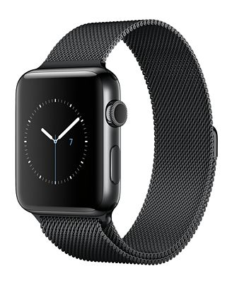 Apple Watch Series 2 42mm Space Black Stainless Steel Case with Space Black Milanese Loop