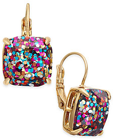 kate spade new york Gold-Tone Glitter Drop Earrings