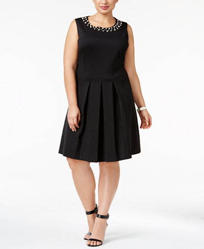 Charter Club Plus Size Pleated Fit Amp Flare Dress Only At