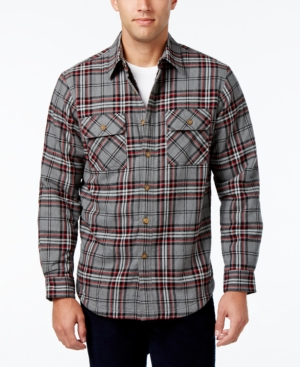 Men's Vintage Style Coats and Jackets Club Room Mens Big and Tall Troy Plaid Shirt-Jacket with Faux Fur Lining Only at Macys $29.99 AT vintagedancer.com