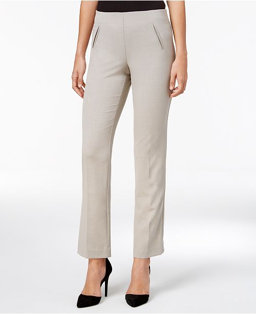 9792a535c6f Style & Co Petite Straight-Leg Tummy-Control Pants & Reviews - Pants ...