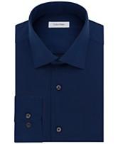 660f219797d7 Calvin Klein STEEL Men s Big   Tall Classic-Fit Non-Iron Herringbone Dress  Shirt